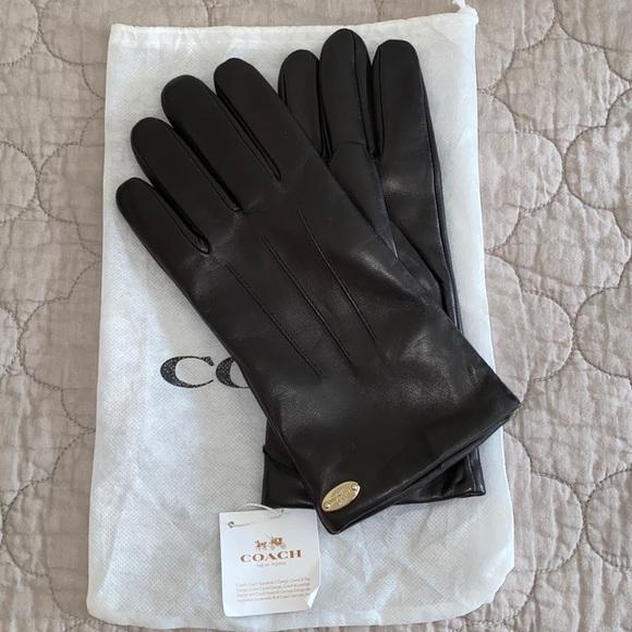 Coach Leather gloves - Black Size L 8
